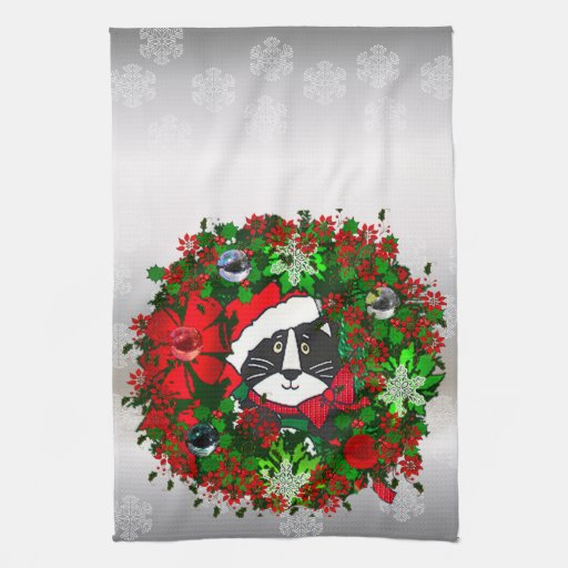 Christmas Cat Kitchen Towels