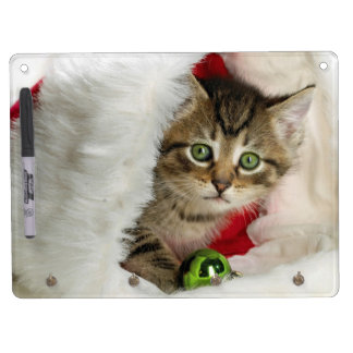 Christmas cat -kitten cat - cute cats dry erase board with keychain holder