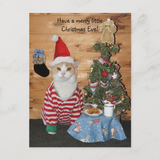 Postcard Santa Kitty Printed On High Quality Recycling Paper