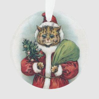 Christmas cat, Louis Wain Ornament