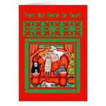 Christmas Cat Lover's Greeting Card