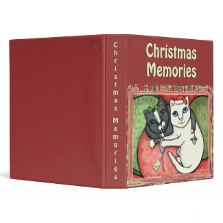 Christmas Cat Lovers Scrapbook Photo Binder binder