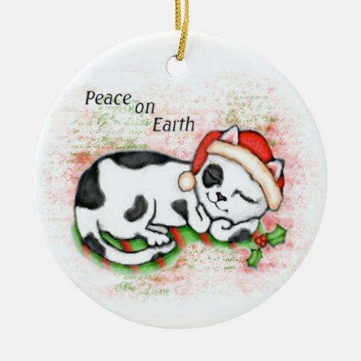 Christmas Cat Lover's Tree Ornament - Custom