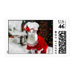 Christmas Cat - Mrs Claws Cat Postage Stamp