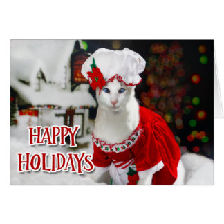 Christmas Cat - Mrs Claws Christmas Cat Card