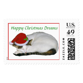 Christmas Cat Nap Postage