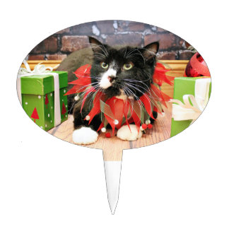 Christmas - Cat - Oscar Cake Toppers