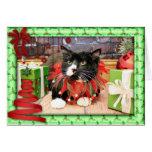 Christmas - Cat - Oscar Greeting Card