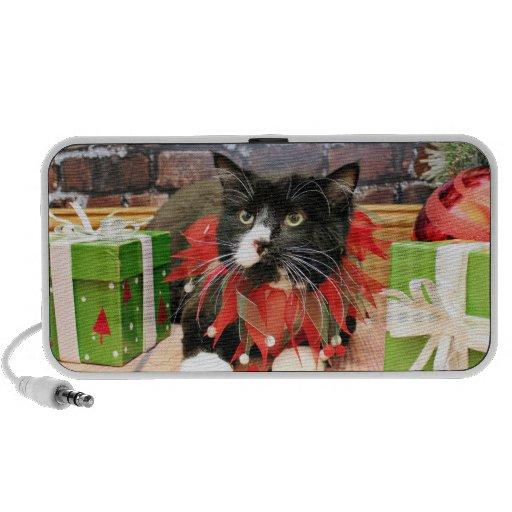 Christmas - Cat - Oscar Portable Speaker