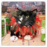 Christmas - Cat - Oscar Wall Clocks