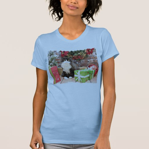 Christmas - Cat - Persian - George Tee Shirts