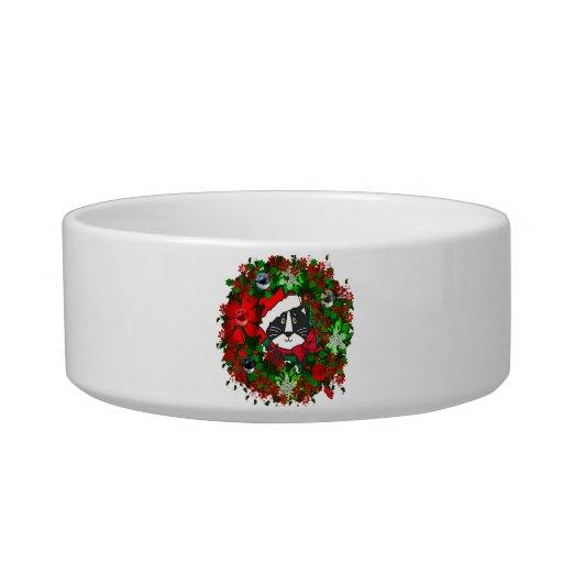 Christmas Cat Pet Food Bowl