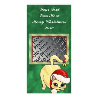 Christmas Cat Photo Card
