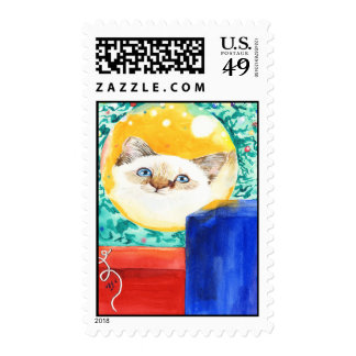 Christmas Cat Stamp