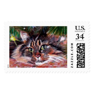 Christmas Cat Postage