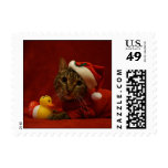 Christmas Cat Postage Stamp
