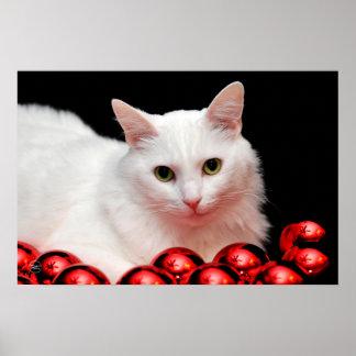 Christmas Cat Print