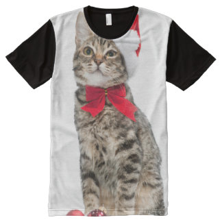 Christmas cat - santa claus cat - cute kitten All-Over-Print T-Shirt