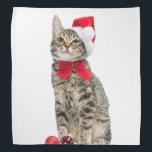 "Christmas cat - santa claus cat - cute kitten bandana<br><div class=""desc"">&quot;merry christmas &quot;, &quot;santa claus&quot; , &quot;cute cat&quot; , &quot;cat christmas&quot; , &quot;xmas christmas&quot; , &quot;animals , funny , pet , cute&quot; , &quot;kitty , adorable , xmas , feline&quot; , &quot;tabby , kittens , cat &quot;, &quot;funny cat&quot;, &quot;cat animal &quot;</div>"