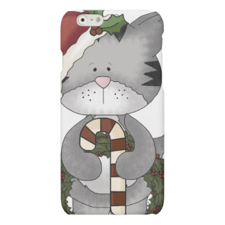Christmas Cat Santa Claus Matte iPhone 6 Case