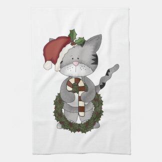 Christmas Cat Santa Towel