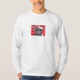 Christmas Cat Says Meow T-Shirt