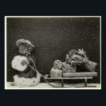 "Christmas cat sleigh postcard<br><div class=""desc"">Christmas cat sleigh</div>"