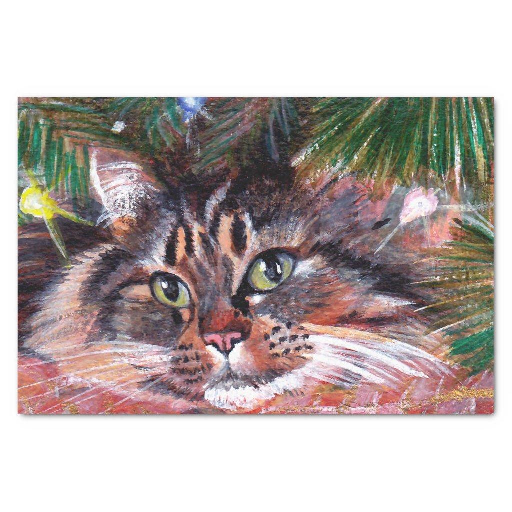 Christmas Cat Tissue Paper