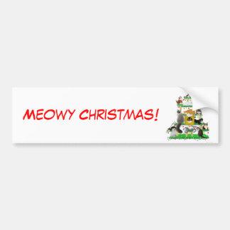 Christmas Cat Tree Bumper Sticker