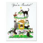 Christmas Cat Tree Invitation