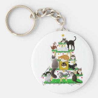 Christmas Cat Tree Keychain