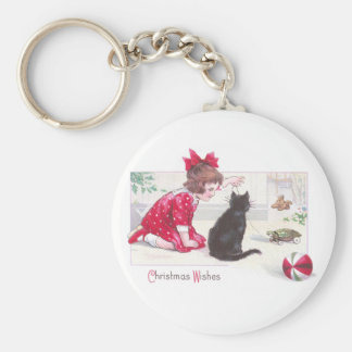Christmas Cat Watches Turtle Pull Toy Vintage Keychain