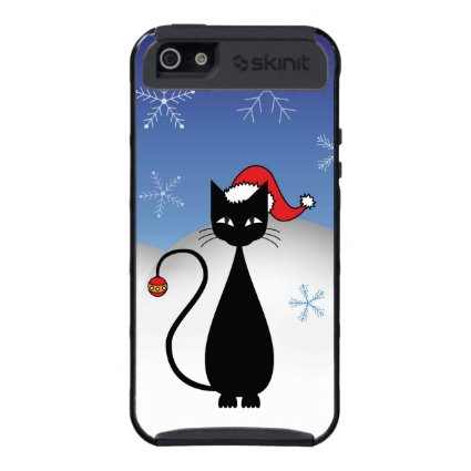 Christmas Cat with Snowflakes iPhone 5 Cover