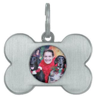Christmas - Catahoula Brita and Labrador Cooper Pet Tags