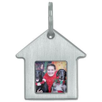 Christmas - Catahoula Brita and Labrador Cooper Pet ID Tags