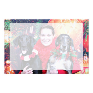 Christmas - Catahoula Brita and Labrador Cooper Personalized Stationery