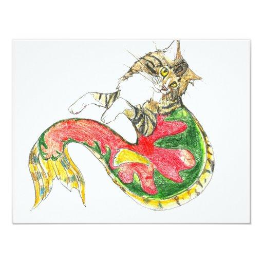 Christmas CatFish (white background) Card