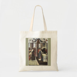 Christmas Cathedral Canvas Crafts Shopping Bag