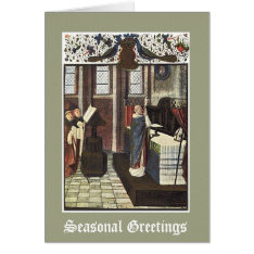 Christmas Cathedral Priest Altar Card at Zazzle