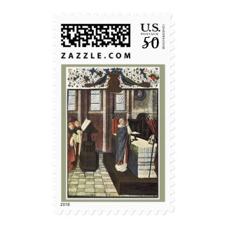 Christmas Cathedral Priest Altar Stamp