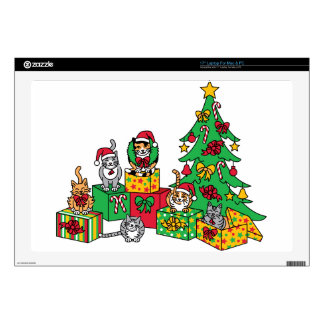 "Christmas Cats 17"" Laptop Decals"