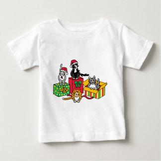 Christmas Cats Baby T-Shirt