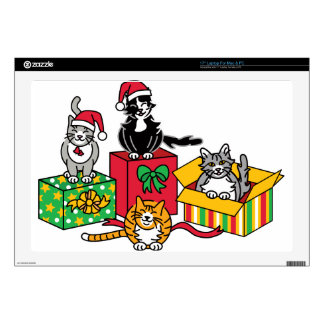 Christmas Cats Decals For Laptops