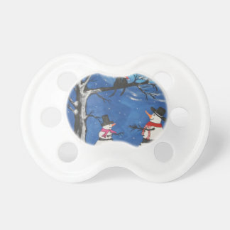 Christmas Cats In Love Pacifier