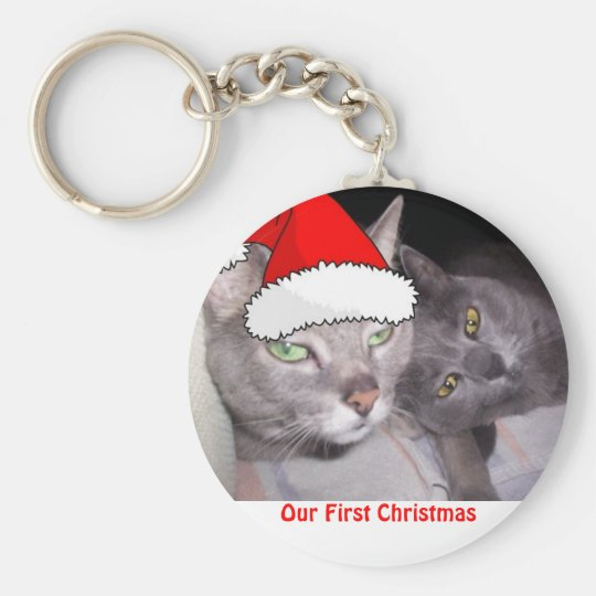 Christmas Cats Keychain