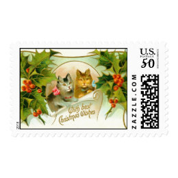 Christmas cats postage