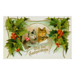 Christmas cats posters