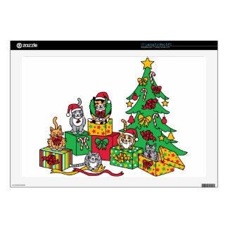 "Christmas Cats Skins For 17"" Laptops"