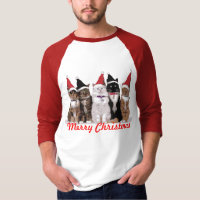 Christmas Cats T-Shirt - Long Sleeve - Red