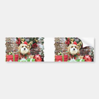 Christmas - Cavachon - Max Bumper Stickers